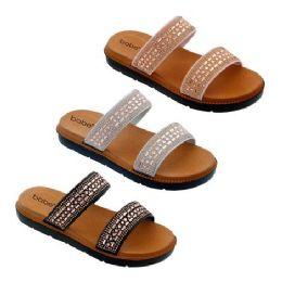 30 Units of Women's Double Strap Sandals - Women's Sandals