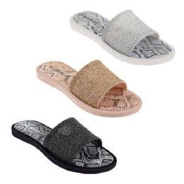 30 Units of Women's Snake Print Slides - Women's Sandals