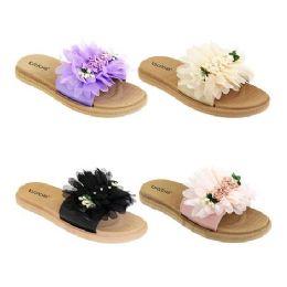 40 Units of Women's Floral Slide - Women's Sandals