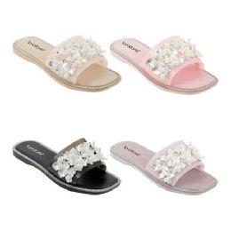 40 Units of Women's Floral Slides - Women's Sandals
