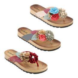 30 Units of Women's Fashion Flowers Sandals - Women's Sandals