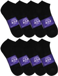1200 Units of Yacht & Smith Mens Cotton Black No Show Ankle Socks, Sock Size 10-13 - Mens Ankle Sock
