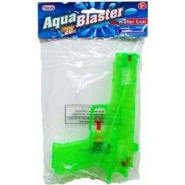 "48 Units of 7.25"" Water Gun In Poly Bag W/ Header, 3 Assrt Clrs - Water Guns"