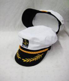 24 Units of Adult Yacht Boat Ship Sailor Captain Hat Cap Navy Marine Admiral - Baseball Caps & Snap Backs