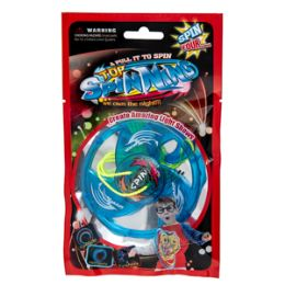 72 Units of Light Up Pull String Spinning Top - Light Up Toys