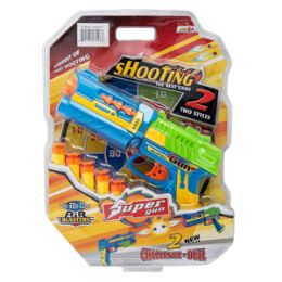 24 Units of Super Shooting Game 6 Piece Set - Toy Weapons