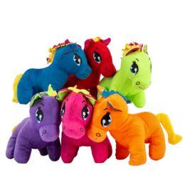 "24 Units of 9"" Plush Colorful Pony - Plush Toys"