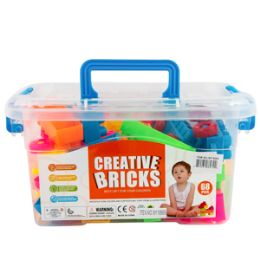 12 Units of Creative Interlocking Blocks Set 50 Piece Set - Light Up Toys