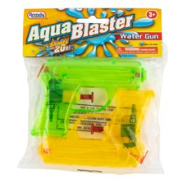 "96 Units of 4.25"" Aqua Blaster Water Guns 2 Piece Set - Water Guns"