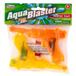 "96 Units of 5.25"" Aqua Blaster Water Guns 2 Piece Set - Water Guns"