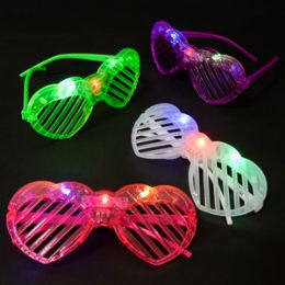 180 Units of Light Up Heart Shutter Glasses - Light Up Toys