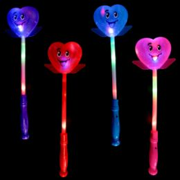 48 Units of LighT-Up Smiley Heart Wand - Light Up Toys