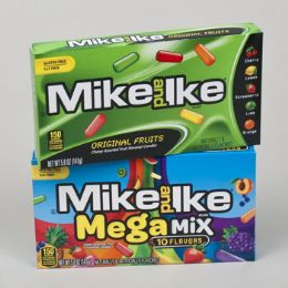72 Units of Candy Mike & Ike Orig And Mega Mix 5 Oz Theater Box In Flr Dspl - Food & Beverage