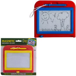24 Units of Magnetic Drawing Board Doodle Erase 2ast Color Blister 3+ - Sketch, Tracing, Drawing & Doodle Pads