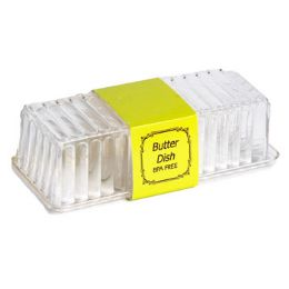 48 Units of Butter Dish Clear With Lid 8 X 2-7/8 X 2-1/4 In Pdq - Kitchen Tools & Gadgets
