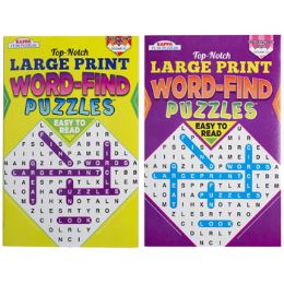 72 Units of Word Find Large Print Pocket Size In Floor Display 2 Asstd - Crosswords, Dictionaries, Puzzle books