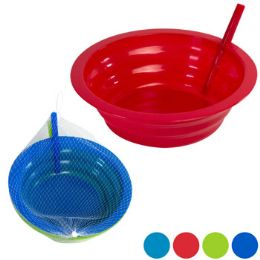 36 Units of Bowl 2pk W/built In Straw 21oz Plastic 2ast Clr Combo Netbag/ht - Kitchen & Dining