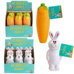 36 Units of Bubbles Carrot/rabbit Shape 6.1 Oz Bottle 6pc Pdq Upc Label - Bubbles