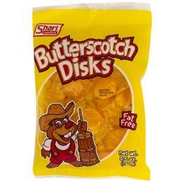 12 Units of Hard Candy Butterscotch Disks 5.5 Oz Peg Bag #360001 - Food & Beverage