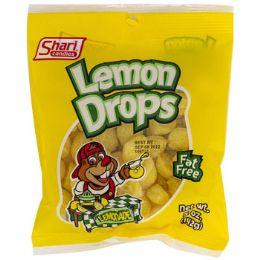12 Units of Hard Candy Lemon Drops 5 Oz Peg Bag #36010 - Food & Beverage