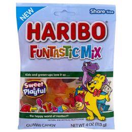12 Units of Gummi Candy Haribo Funtastic Mix 4.0 Oz Peg Bag - Food & Beverage