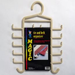 72 Units of Tie And Belt Organizer Made In Usa Carded - Hangers