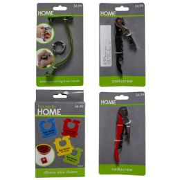36 Units of Drink Accessories Random To The Case Pp $4.99 Carded/pegable - Kitchen Tools & Gadgets