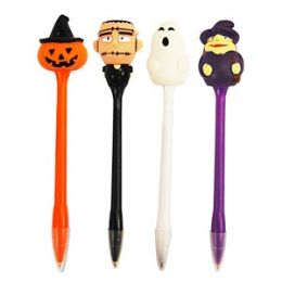 24 Units of Light Up Scary Pens Pens With Display - Pens