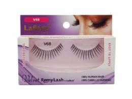 72 Units of Laflare V68 100% Human Hair Velvet Remy Eyelashes - Assorted Cosmetics