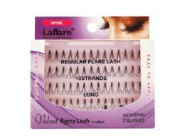 72 Units of Laflare Velvet Remy 10 Strand Long Individual Eyelashes - Assorted Cosmetics
