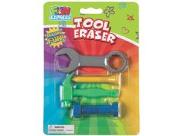 108 Units of 4 Pack Tool Shaped Erasers Set - Erasers