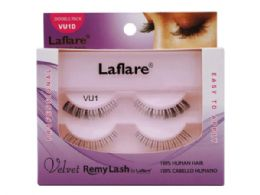 72 Units of Laflare Vu1d 100% Human Hair Velvet Remy Double Lower Eyelashes - Assorted Cosmetics