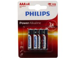 36 Units of Philips Power Alkaline 4 Pack Aaa Battery - Electronics