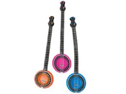 72 Units of Colorful Inflatable Banjo - Musical