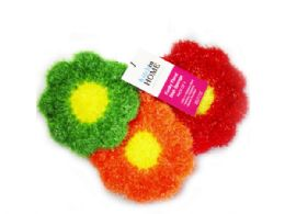 30 Units of 3 Pack Strawberry Sponges In Red, Orange And Green - Scouring Pads & Sponges