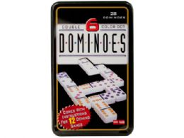 12 Units of DoublE-Six Color Dot Dominoes Game Set - Dominoes & Chess