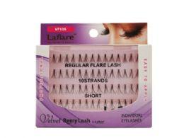72 Units of Laflare Velvet Remy 10 Strand Short Individual Eyelashes - Assorted Cosmetics