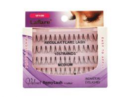 72 Units of Laflare Velvet Remy 10 Strand Medium Individual Eyelashes - Assorted Cosmetics