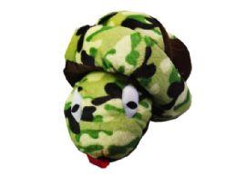 30 Units of Large Knotted Camo Print Plush Snakeq - Plush Toys