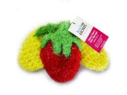 45 Units of 3 Pack Strawberry Sponges In Red, Yellow And Yellow - Scouring Pads & Sponges