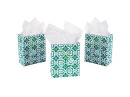 108 Units of Medium Floral Print Gift Bag - Party Supplies