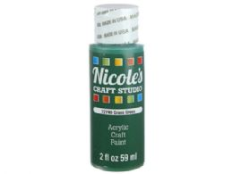 108 Units of Nicoles 2 Oz Acrylic Craft Paint In Grass Green - Art Paints