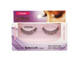 72 Units of Laflare V747xs 100% Human Hair Velvet Remy Eyelashes - Assorted Cosmetics