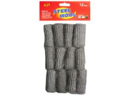 90 Units of 12 Pack Steel Wool Pads - Scouring Pads & Sponges