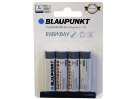 36 Units of Blaupunkt Everday Alkaline 4 Pack Aa Battery - Electronics