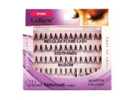 72 Units of Velvet Flare 20 Strand Medium Individual Eyelashes - Cosmetics