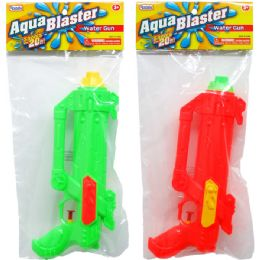 "48 Units of 10.5"" Water Gun In Poly Bag W/header, 3 Assrt Clrs - Water Guns"