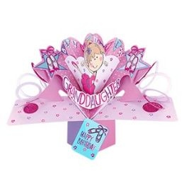 12 Units of Happy Birthday Pop Up Card -Grandaughter - Balloons & Balloon Holder