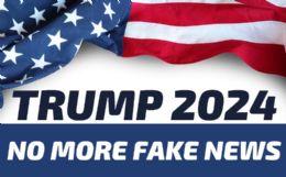 120 Units of Trump 2024 No More Fake News Bumper Stickers - Stickers