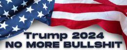 96 Units of Trump 2024 No More Bullshit Bumper Stickers - Stickers